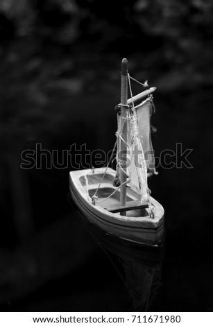 Sailboat, Still Water #711671980