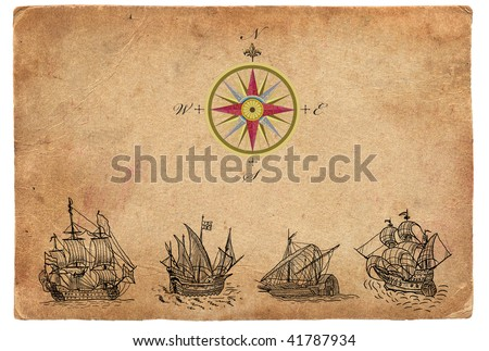 Sailboats and compass