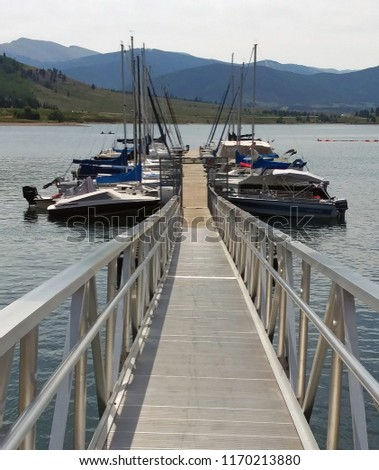 Sailboats at Lake Dillon Marina, Colorado