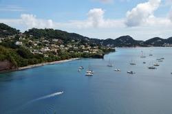 Sailboats Docked at the Caribbean Island of Grenada