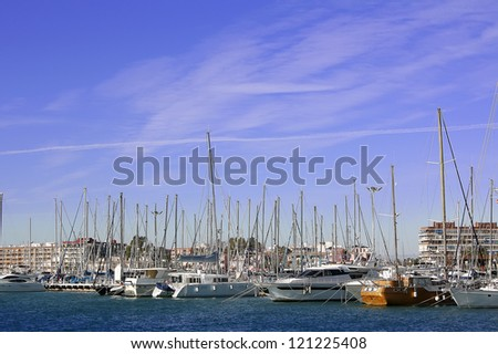 sailboats port in Torrevieja Spain