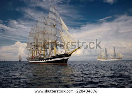 Sailing. A collection of ships and yachts #228404896