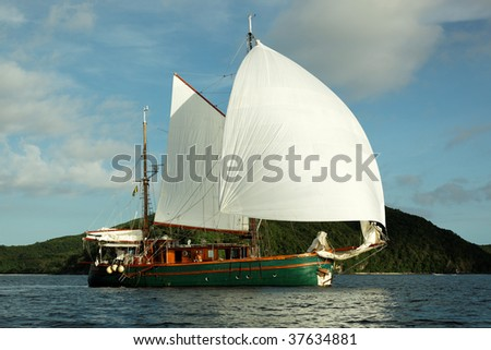 Sailing Around The World: Sailing Boat - Louisiade Archipelago, Papua New Guinea