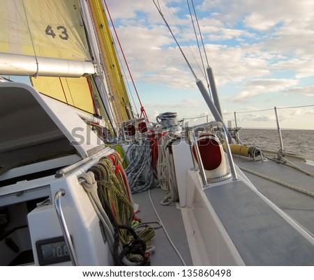 sailing at angle