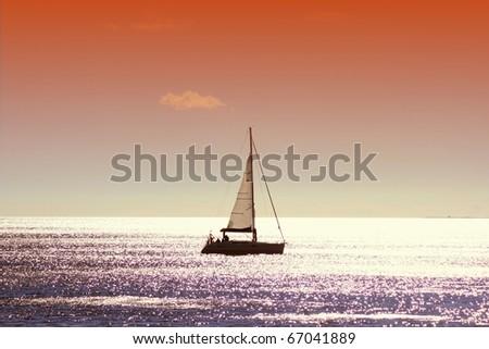 Sailing boat - stock photo