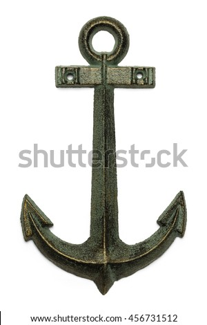 Sailing Boat Anchor Isolated on White Background.
