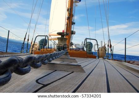 sailing boat detail