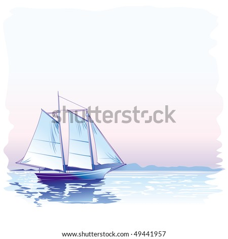 Sailing Boat, raster version