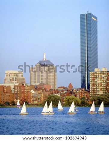 Sailing, Charles River, Boston, Massachusetts