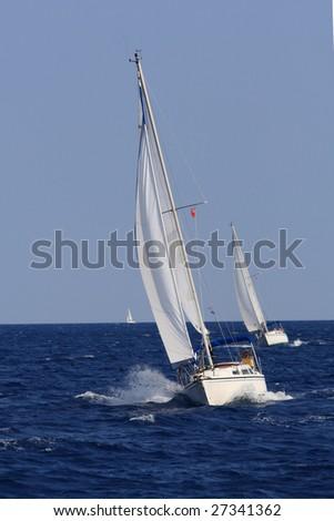 Sailing in Greece around Lefkas island #27341362