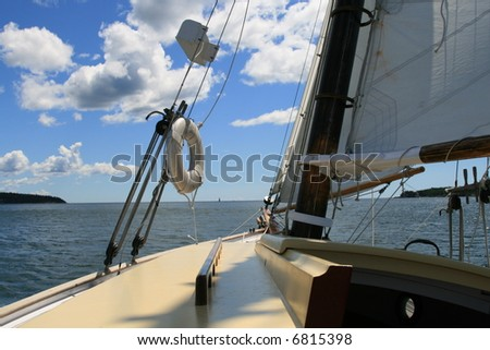 Sailing in Maine, Approaching the Open Sea