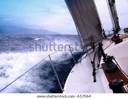 sailing in the Atlantic
