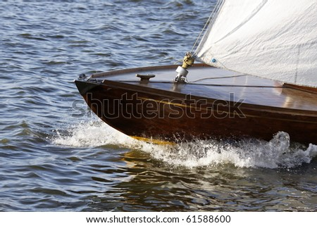 Sailing on Lake Alster in Hamburg