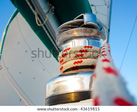 sailing rope - stock photo