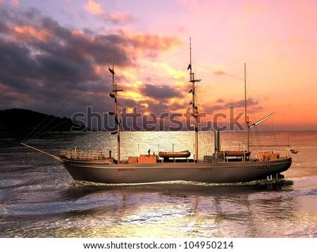 Sailing ship boat vessel