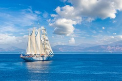 Sailing ship in a beautiful summer day