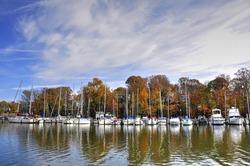 Sailing Ships in Slips on Deep Creek Maryland