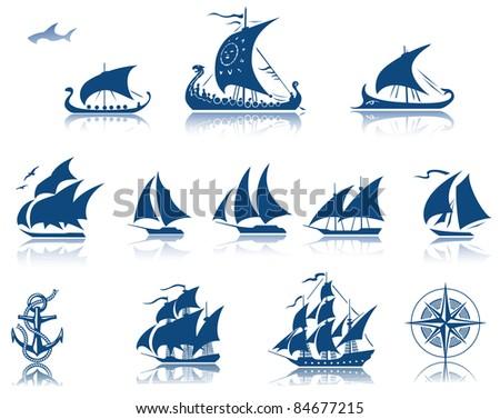 Sailing ships raster Iconset