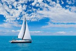 Sailing the Ionian sea in Greece