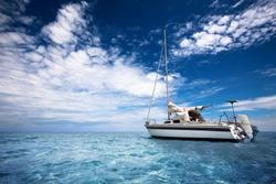 Sailing through tropical waters