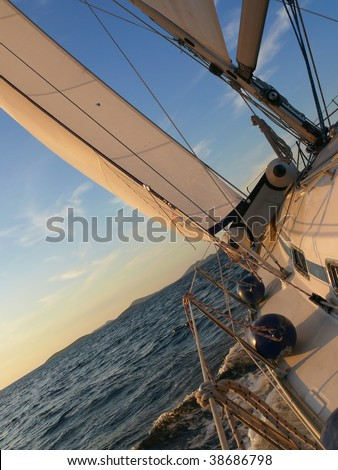 Sailing to the open ocean