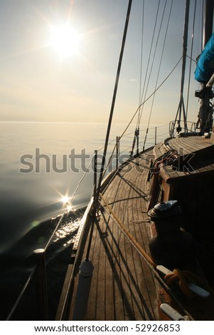 Sailing towards sun