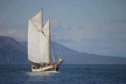 Sailing Vessel under way sailing