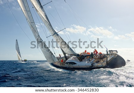 Sailing yacht race. Yachting. Sailing