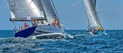 Sailing yacht regatta. Sailboats under sail in the race
