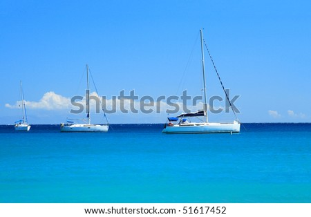 Sailing yachts in the Aegean sea