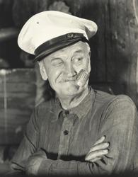 Sailor smoking corn pipe