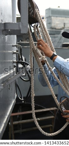 Sailors, sailors, trainers, tie knots, and sea training #1413433652