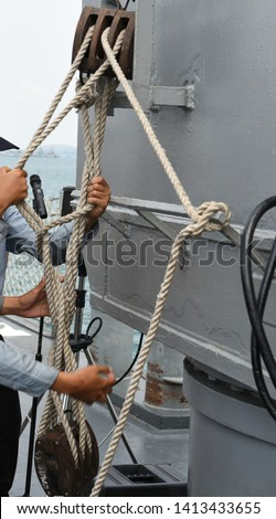 Sailors, sailors, trainers, tie knots, and sea training #1413433655