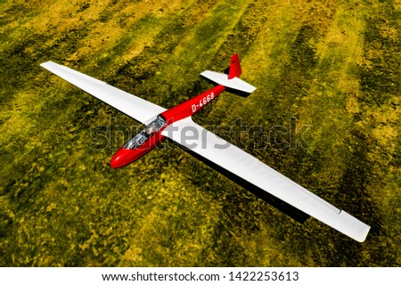 Photo of  Sailplane in Germany from above