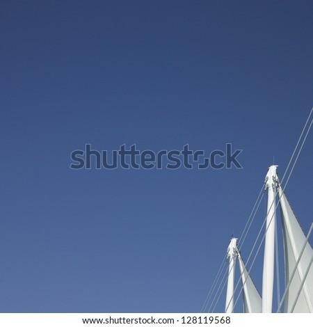 Sails and blue sky