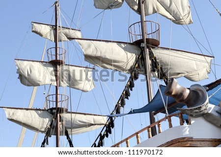 Sails Of An Antique Ship
