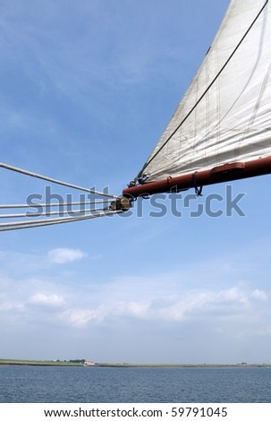 sails on a boat