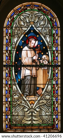 Saint Aloysius, Stained glass