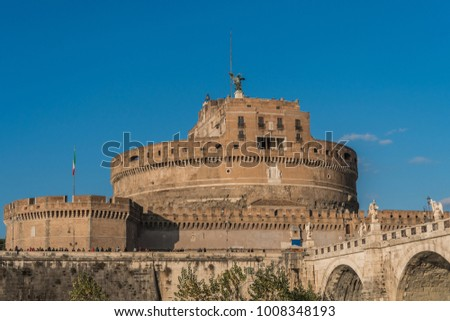 Saint Angelo castle and St. Angelo Bridge #1008348193