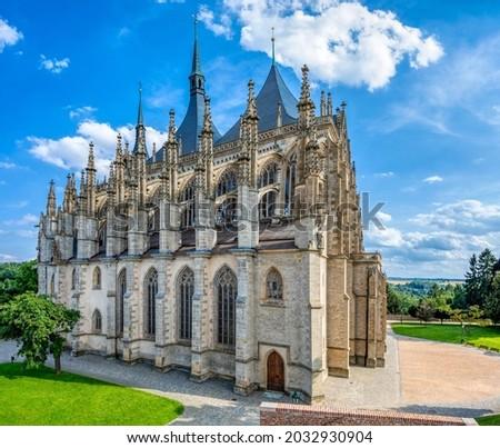 Saint Barbara's Cathedral, Church, Czech: Chram svate Barbory, is a Roman Catholic church in Kutna Hora, Bohemia, UNESCO WORLD HERITAGE,Czech Republic Foto stock ©