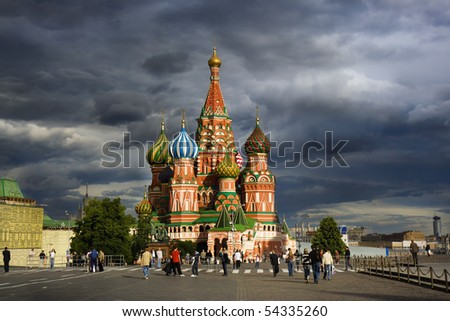 Saint Basil's Cathedral on Red square, Moscow, Russia