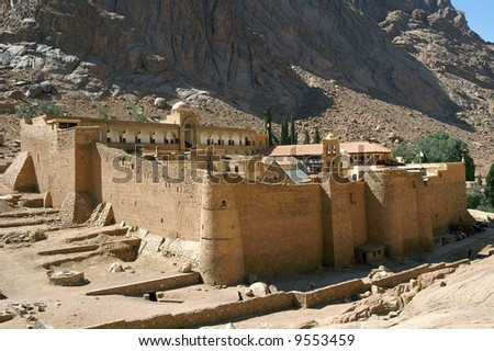 Saint Catherine's Monastery, one of the oldest continuously functioning Christian monasteries in the world, Sinai Peninsula, Egypt