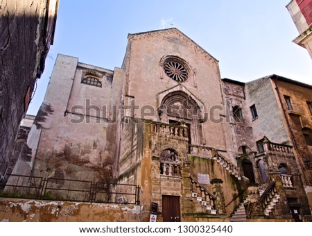 Saint Dominic old romanesque church in Taranto old town, Puglia, Italy