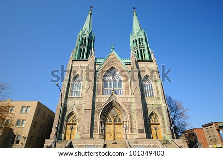 Saint-Edouard Church is a Roman Catholic church in Montreal, Quebec, Canada. It is dedicated to Edward the Confessor, the King of England from 1047 until 1066.