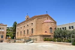 Saint George Greek Orthodox Church in Madaba, Jordan.