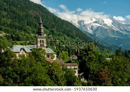 Saint Gervais les Bains in the French Alps. Photo stock ©
