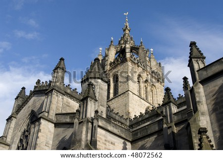 Saint Giles Cathedral or High Kirk of Edinburgh. Presbyterian Church. Scotland. UK.