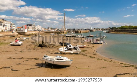 Saint-Gilles-Croix-de-Vie, in Vendee, typical harbor Foto stock ©