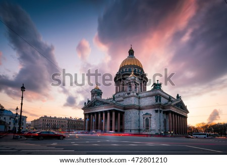 Saint Isaac's Cathedral or Isaakievskiy Sobor in Saint Petersburg, Russia is the largest Russian Orthodox cathedral (sobor) in the city. It is the largest orthodox basilica.