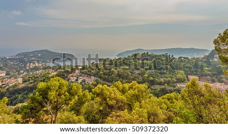Saint-Jean-Cap-Ferrat - a resort and a commune in the south-eastern France on a peninsular Cape Riviera. France. #509372320
